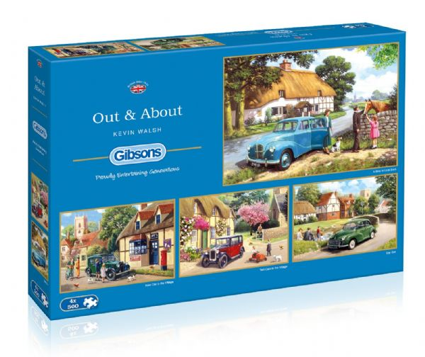 Out and about. 4 x 500 piece jigsaws by Gibsons. G5034